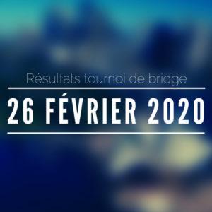 Tournoi du 26/02/2020