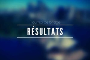 Résultats du Tournoi de Bridge